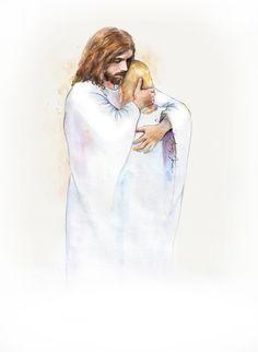 Jesus Girl, God Jesus, Baptism Program, Jesus Drawings, Christian Girls, Christian Art, Jesus Is Risen, Lds Art, Jesus Painting