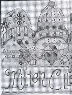 Schneemänner Muster 2