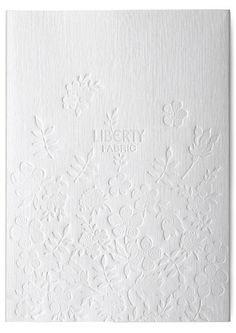 embossed fabric cover for Liberty fabric catalogue by StudioThomson Design Floral, Print Design, Book Cover Design, Book Design, Identity, Embossed Fabric, Bussiness Card, Print Finishes, Brand Book