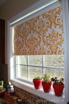IKEA Hack: Fabric Covered Tupplur Blinds