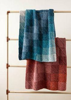 Beautiful free knitting pattern by Purl Soho - Mitered Corner Blanket pattern by Purl Soho Crochet Edging Patterns, Afghan Crochet Patterns, Knitting Patterns Free, Free Knitting, Free Pattern, Baby Patterns, Knitting Needles, Free Crochet, Knitted Afghans