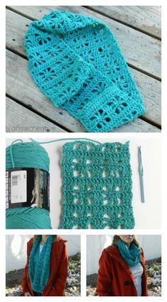 Cube Lace Infinity Scarf Free Crochet Pattern