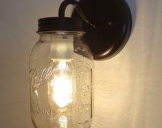 TARRO de MASÓN LUZ baño pared lámpara lámpara de bola por LampGoods