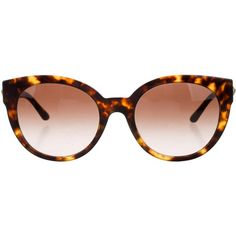 Pre-owned Versace Embellished Tortoiseshell Sunglasses ($175) ❤ liked on Polyvore featuring accessories, eyewear, sunglasses, brown, brown tortoise glasses, tortoise shell sunglasses, tortoise sunglasses, tortoise shell eyewear and tortoiseshell glasses