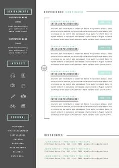 Resume Templates For Pages 2 P Resume Pack For Word  Resume Design  Pinterest  Creative Cv