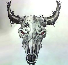 Amazing Bull Skull Tattoo Design Amazing Bull Skull Tattoo Design – An amazing bull skull tattoo idea for men and guys. Animal Skull Tattoos, Indian Skull Tattoos, Bull Skull Tattoos, Cowboy Tattoos, Bull Skulls, Skull Tattoo Design, Animal Skulls, Arm Sleeve Tattoos, Tattoo Sleeve Designs