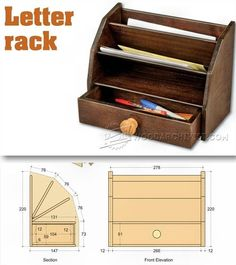 Letter Rack Plans - Woodworking Plans and Projects | WoodArchivist.com