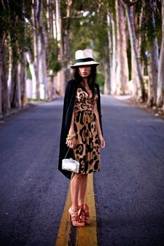 I want to wear this hat, on my head, and never take it off. This whole look is toooo cute. Great shoes, too. =)