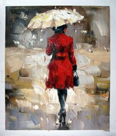 by - City Life - - Shopping Girl - Museum Quality Oil Painting on Canvas Art by Artseasy on Etsy Umbrella Painting, Rain Painting, Umbrella Art, Oil Painting On Canvas, Acrylic Canvas, Canvas Art, City Rain, Simple Acrylic Paintings, Beginner Painting