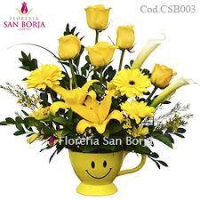 Resultado de imagen para arreglo de flores y frutas amarillas