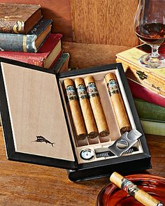Five Cigar Book Humidor
