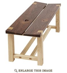 Tapered-Seat Bench Woodworking Plan