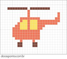 Helicopter hama perler beads pattern