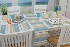 Tischdecke Maritimen. Farben für den Strand. Die Tischwäsche ist abwaschbar.