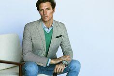 Linen/cotton tailored blazer