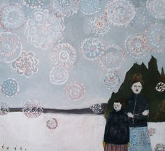 emily and alice in the winter by amanda blake art, via Flickr