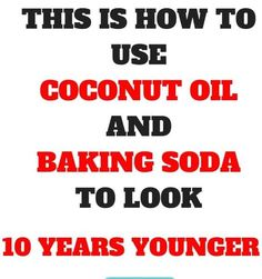 This Is How To Use Coconut Oil And Baking Soda To Look 10 Years Younger -weightlossserve Natural Skin Tightening, Natural Face Cleanser, Natural Exfoliant, Baking With Coconut Oil, Coconut Oil For Acne, Honey Facial Mask, Facial Masks, Banana Facial, Homemade Scrub