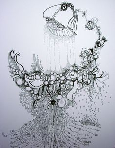 Deb Haugen - pen and ink # 16 organic art natures own graffiti Pen Art, Art Therapy Projects, Nature Art, Abstract Drawings, Organic Art Nature, Organic Art, Art, Art Journal, Doodle Drawings