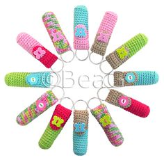Keychain Lip Balm Holders (Lipcrèmehouders) by Made by BeaG, via Flickr