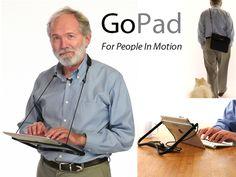 GoPad: The hands-free way to wear and use your iPad by Peter Kielland, via Kickstarter. Repin from christina blake.