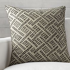 """Ernest Taupe 23"""" Pillow with Down-Alternative Insert 