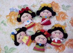 Donna Mina: Chaveiros Frida Kahlo