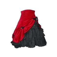 Nubia Gothic Lolita Skirt and Petticoat found on Polyvore featuring polyvore, fashion, clothing, skirts, bottoms, dresses, saias, red skirt, petticoat skirt and goth skirt
