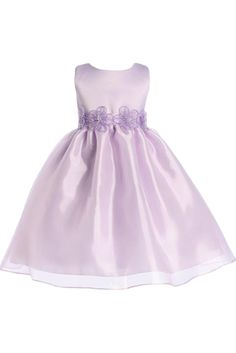 Lilac Mirror Organza Overlay Flower Girl Dress by Blossom (BL202)  http://rachelspromise.net/collections/flower-girl-dresses/products/bl202-mirror-organza-overlay-satin-flower-girl-dress?variant=2811601411