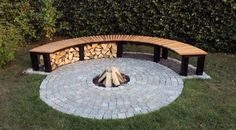 Bench Curved Patio Backyard Outdoor Fire Pit Benches Design Ideas With Regard Seating Around Fire Pit Bench, Fire Pit Seating, Fire Pit Area, Backyard Seating, Fire Pit Backyard, Fire Pit Gazebo, Back Yard Fire Pit, Fire Pit Swings, Garden Fire Pit