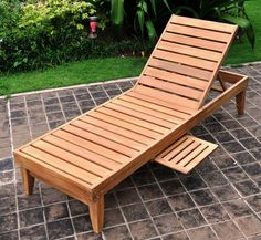 The pinnacle of outdoor furniture quality, this Indonesian teak hardwood chaise lounge will remain durable and attractive after decades of use. Cushion sold separately.