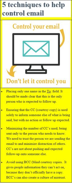 Control your email. Don't let it control you
