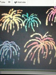 Salt fireworks