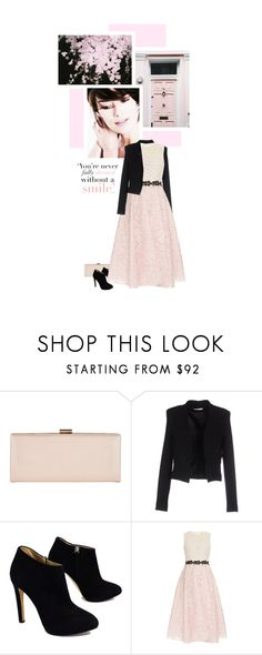 """Lovely Lace Dress"" by onemonday ❤ liked on Polyvore featuring Phase Eight, BERNA, Giuseppe Zanotti, Giambattista Valli, Spring, lacedress and softpink"