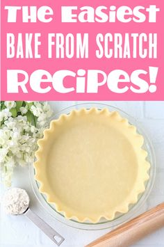 Homemade Desserts from Scratch! Easy Baking Recipes that will make you a kitchen superstar in no time!  Learn to bake artisan breads, award-winning pies, and drool-worthy desserts with step-by-step instructions.  Go grab the recipes and give some a try this week!
