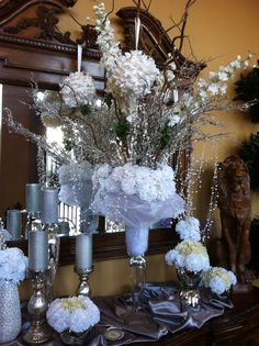 Winter Wonderland Table Decor Centerpieces Amp Table Decor Pinterest Winter Table