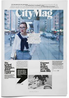 I think, as contents page, this page is really strong on the design front. The simple colours of black and white go well with the vibrant photograph used. The composition has been well thought through with a good mix of graphics, shape and alignment.