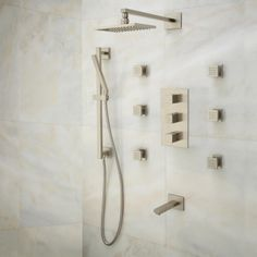 Onassis Thermostatic Tub & Shower System - 6 Body Jets - Shower - Bathroom