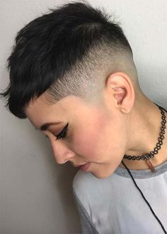 51 Edgy and Rad Short Undercut Hairstyles for Women - Short Undercut Hairstyles for Women: Undercuts for Women - Short Shaved Hairstyles, Short Pixie Haircuts, Short Hairstyles For Women, Short Hair Cuts, Short Hair Styles, Hairstyles 2018, Pixie Cuts, Latest Hairstyles, Shaved Hair Women