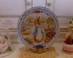 Peter Rabbit Millenium Dollhouse Miniature Plate