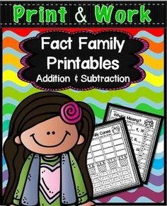 Fact FamiliesFact Family Addition / Subtraction Facts PrintablesThese printables are included in a BUNDLE set.  Along with my place value and fact families printables!  Please check it out by clicking the link below;MATH COMMON CORE PRINTABLES BUNDLECheck out my fact family products:Fact Family PrintablesFact Families Mini BooksFact Families PuzzlesFact Families FencesFact Families BookletDo your students need practice learning about fact families, then this 43 page set of Addition and…
