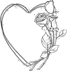 Heart roses Source by Wood Burning Stencils, Wood Burning Patterns, Wood Burning Art, Page Borders Design, Hearts And Roses, 1 Tattoo, Plant Drawing, Borders For Paper, Stencil Templates