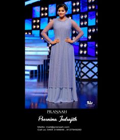 8557a849e Priyamani in pastel purple stone worked top with palazzo pants.#pranaah  Pastel Purple,