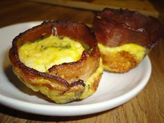 Bacon, Hashbrown, Egg and Cheese Muffins (GF)