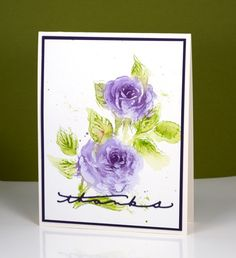The new scented beauty rose stamp from PB is such a pretty stamp. I have tried a variety of mediums and styles with it so far and will share a few different cards at the end of this post. First let's