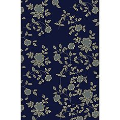 Shop for Admire Home Living Impressions Floral Blue Abstract Rug x Get free delivery On EVERYTHING* Overstock - Your Online Home Decor Store! Navy Rug, Navy Blue Area Rug, Blue Area Rugs, Floral Rug, Floral Design, Contemporary Rugs, Blue Abstract, Online Home Decor Stores, Online Shopping