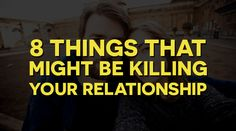 It takes very minute and menial things to slowly damage a relationship over time, things that aren't noticeable in the beginning and subtly affect even the strongest of relationships. Make...