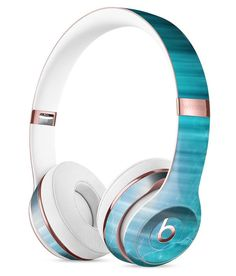 Teal Twilight Zone with Strikes of Lightening Full-Body Skin Kit for the Beats by Dre Solo 3 Wireless Headphones
