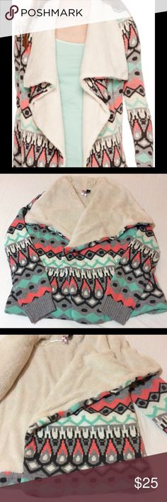 Love by Desing Long-sleeve Sherpa Cozy Sweater Never used. No tags. Great condition. Love by Design Sweaters Cardigans