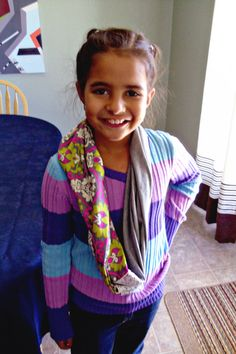 Easy Sewing Projects - infinity scarf (measurements for kids and adults)