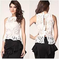 Resultado de imagen para blusas de encaje para señoras
